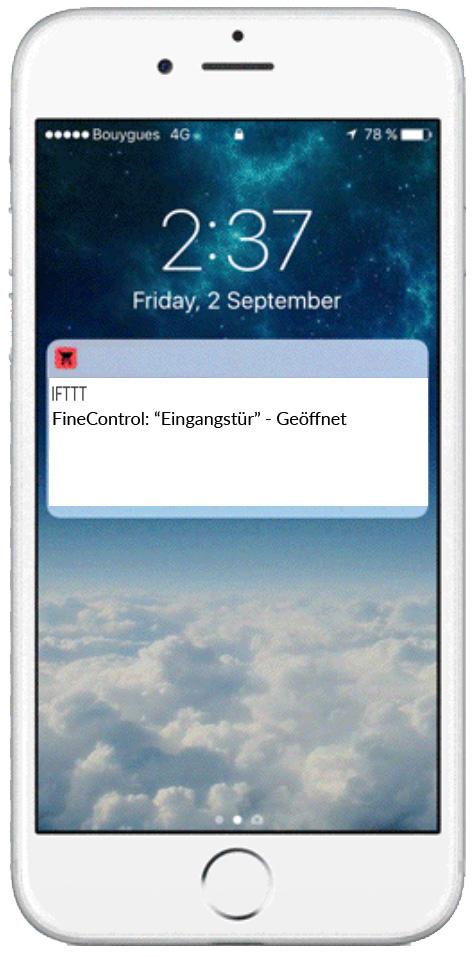 Öffnungsmelder - App