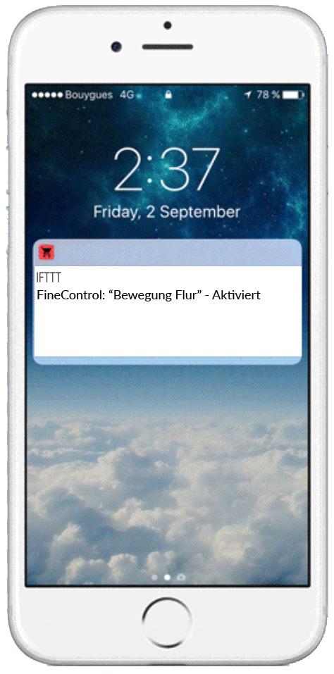 Bewegungsmelder - App