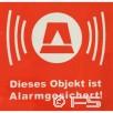 Alarm-Aufkleber