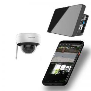 Video Funk NVR Touchscreen |  WIFI Kamera Set mit 1x Innen- / Aussenkameras Überwachung Aufnahme