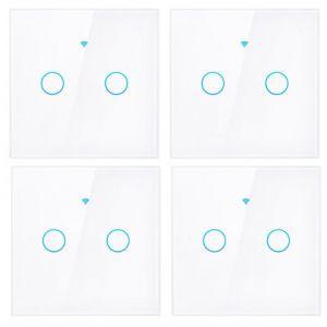 SmartHome Lichtschalter zweifach - 4er Set